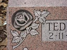 sculpted rose monument