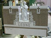 Hand Carved Saint Sculpted into Granite